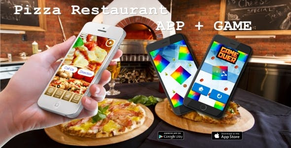 Pizza Restaurant APP + GAME - Advergame Template Buildbox 2