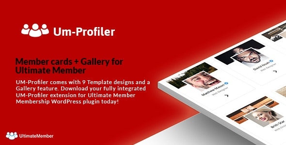 Member cards + Gallery Extention - Ultimate Member Community Plugin - CodeCanyon Item for Sale