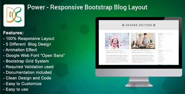 Bootstrap Blog Template | Power Bootstrap Blog Layout Design By Designcollection