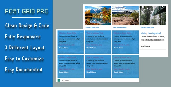 Post Grid Pro - CodeCanyon Item for Sale