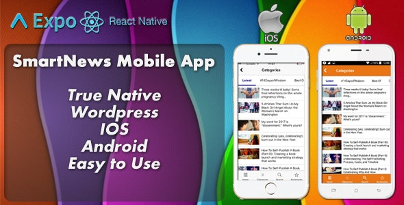 SmartNews - Real Native Full Mobile (IOS+Android) Application for Wordpress - CodeCanyon Item for Sale