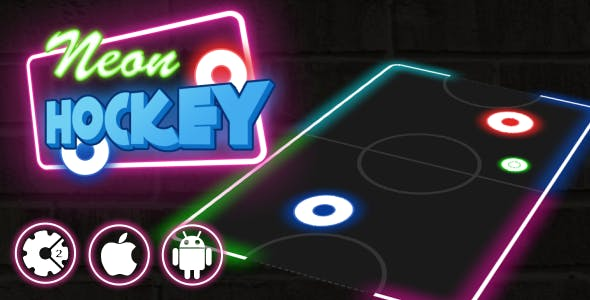 Neon Hockey - HTML5 Multiplayer Game