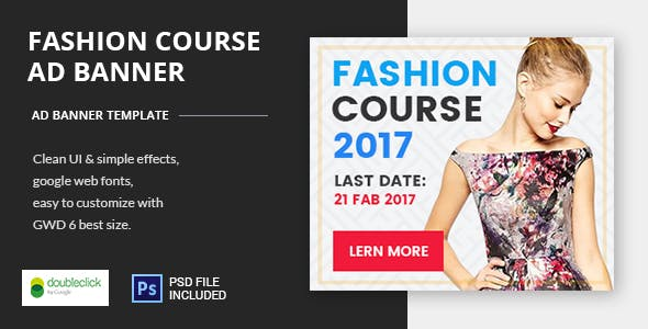 Fashion Course02 - HTML5 Animated Google Banner 02