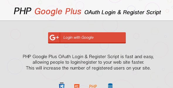 Google Plus OAuth Login & Register with PHP