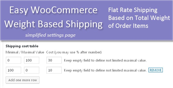 Easy WooCommerce Weight Based Shipping - CodeCanyon Item for Sale