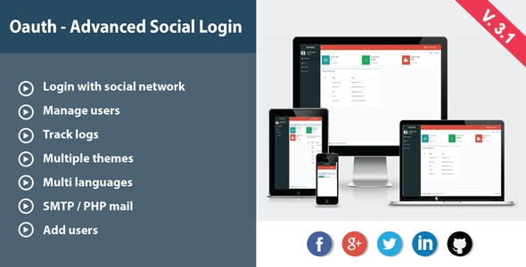 Oauth - Advanced Social Login - CodeCanyon Item for Sale