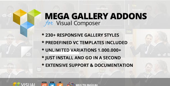 Mega Gallery Addon for WPBakery Page Builder (formerly Visual Composer)