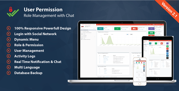User Management Permission & Role - with Chat - CodeCanyon Item for Sale