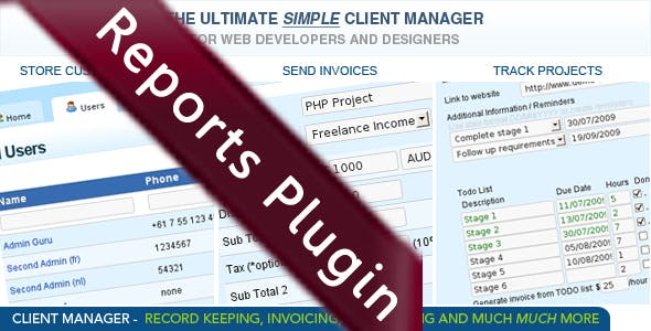 Ultimate Client Manager Reports Plugin