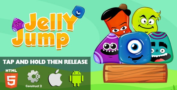 Jelly Jump - HTML5 Game (CAPX) - CodeCanyon Item for Sale