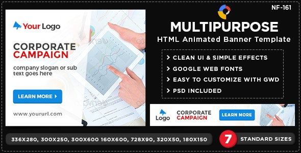 HTML5 Multi Purpose Banners - GWD - 7 Sizes(NF-CC-161) - CodeCanyon Item for Sale