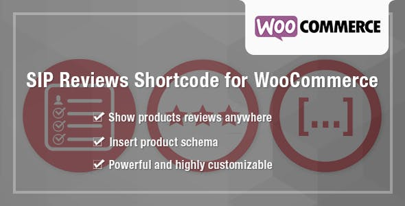 SIP Reviews Shortcode for WooCommerce