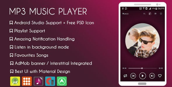 MP3 Music Player - AdMob +  Facebook Audience Network + NATIVE ADS & GDPR