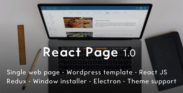 ReactPage - the Bootstrap Starter Kit for ReactJS and Wordpress - CodeCanyon Item for Sale