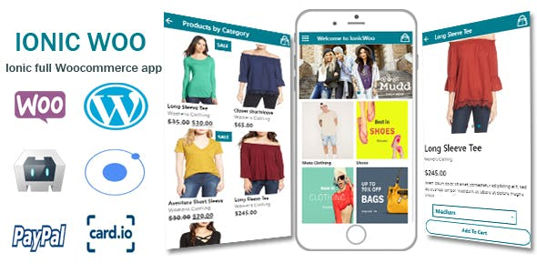 IonicWoo - Full Ionic Android,Ios App Integrated With Woocommerce And Paypal