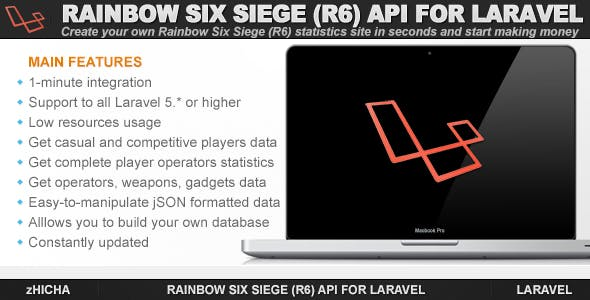 Rainbow Six Siege (R6) API for Laravel