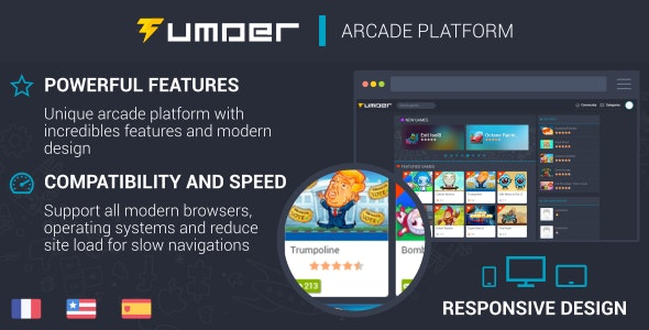 Tumder - Responsive Arcade Script - CodeCanyon Item for Sale