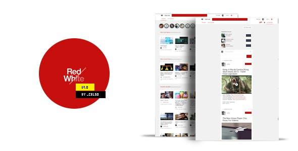 RedWhiteTube - VideoTube Video CMS PhpScript Theme