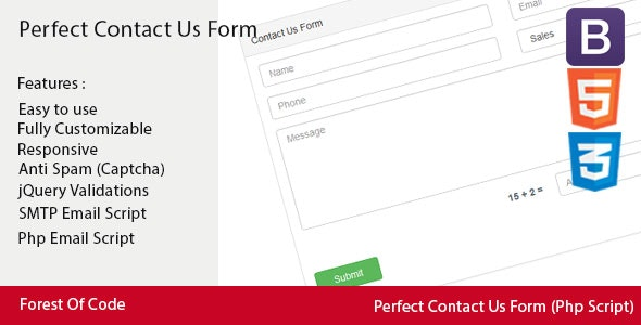 Perfect Contact Us Form - CodeCanyon Item for Sale
