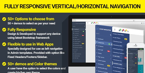 Dropdown Sidebar Menu Responsive Bootstrap Navigation
