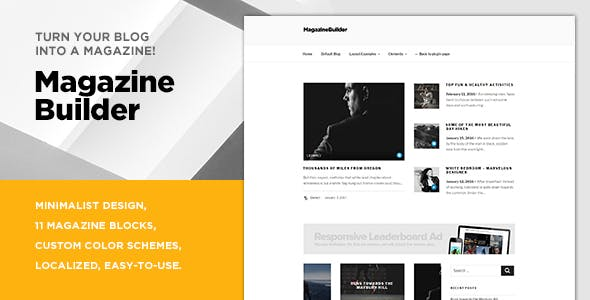 Magazine Builder / Turn your blog theme into a magazine theme!