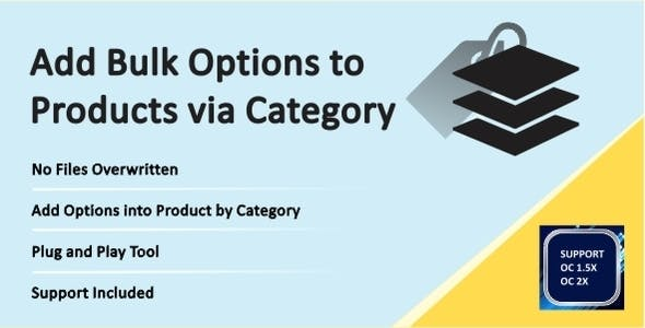 Assign Options to Products via Category