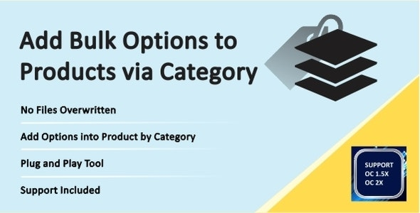 Assign Options to Products via Category - CodeCanyon Item for Sale