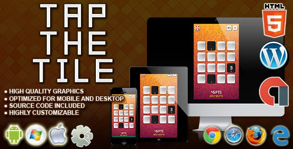Tap the Tile - HTML5 Construct Skill Game - CodeCanyon Item for Sale