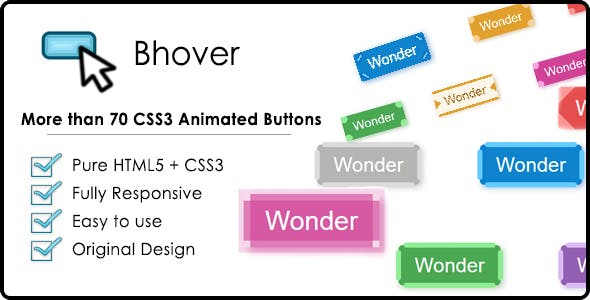 Bhover – Big Collection of CSS3 Animated Buttons
