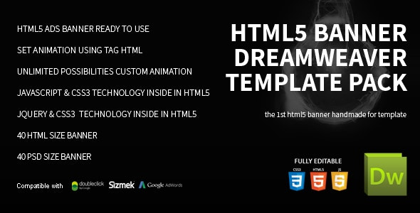 HTML5 Banner Dreamweaver Bundle Template by on3-step