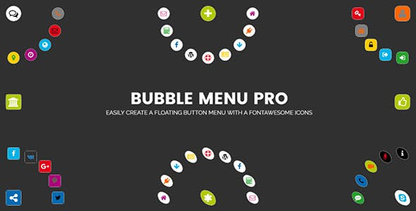 Bubble Menu Pro - creating awesome circle menu with icons