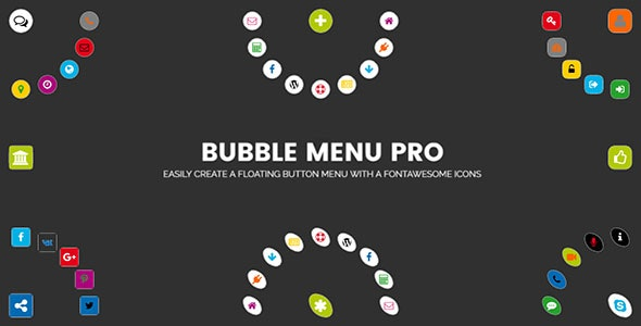 Bubble Menu Pro - creating awesome circle menu with icons - CodeCanyon Item for Sale