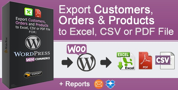 WooCommerce Orders and Products Export - CodeCanyon Item for Sale