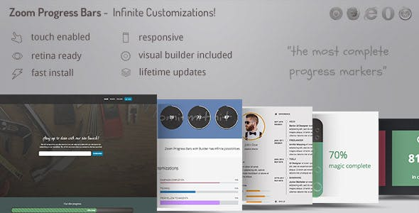 Zoom Progress Bars 2 - Infinite Progress Marker Customizations with Included Visual Builder