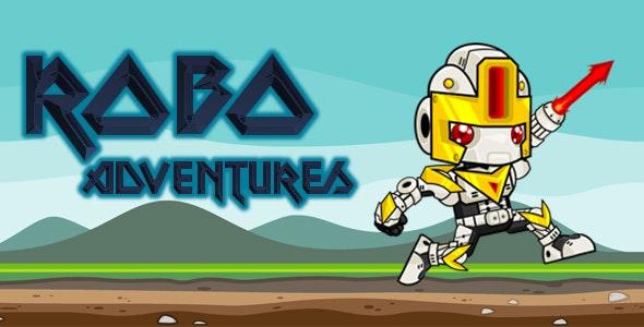 Robo Adventures iOS-iAP-Admob-Multi Levels/World - CodeCanyon Item for Sale