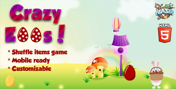| Crazy Eggs | Shuffle Items game - CodeCanyon Item for Sale