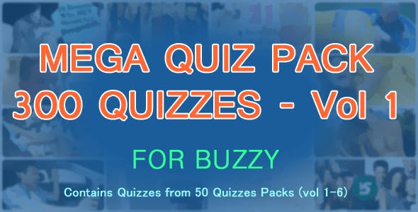 300 Quizzes Mega Pack for Buzzy - Vol 1