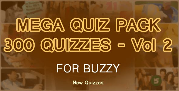 300 Quizzes Mega Pack for Buzzy - Vol 2