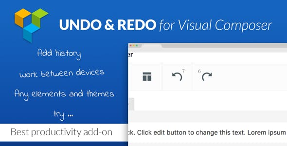 Undo & Redo for Visual Composer - Best Productivity Add-on