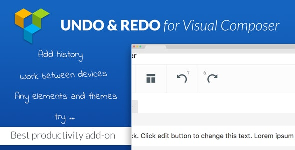 Undo & Redo for Visual Composer - Best Productivity Add-on - CodeCanyon Item for Sale