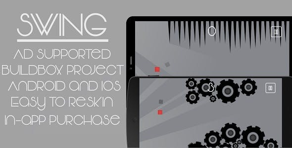 Swing - Complete Mobile Game, Buildbox Project Included!