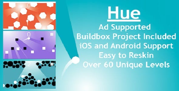 Hue - Mobile Game, Buildbox Project Included!