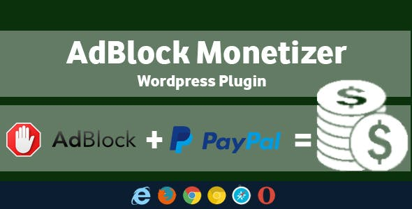 AdBlock Monetizer - Wordpress Plugin - CodeCanyon Item for Sale