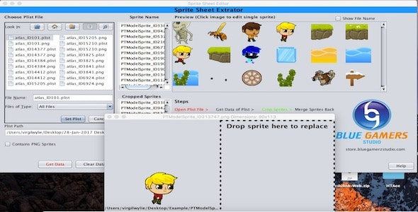 Sprite sheet Plist Editor for Texture Packer and BuildBox by