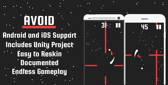 Avoid - Mobile Game, Unity Project Included!