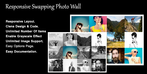 Responsive Swapping Photo Wall - CodeCanyon Item for Sale