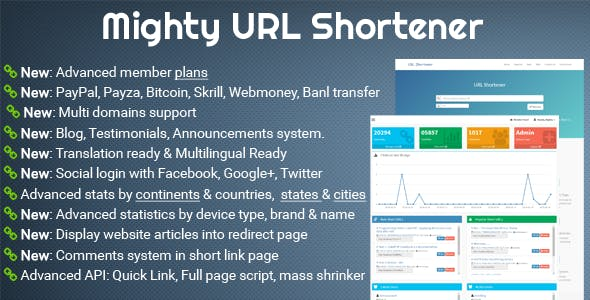 Mighty URL Shortener | Short URL Script