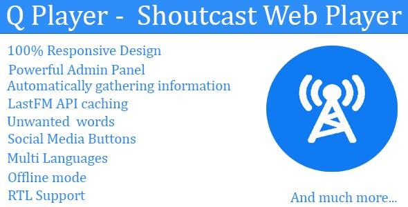 Q Player - Shoutcast Web Player - CodeCanyon Item for Sale