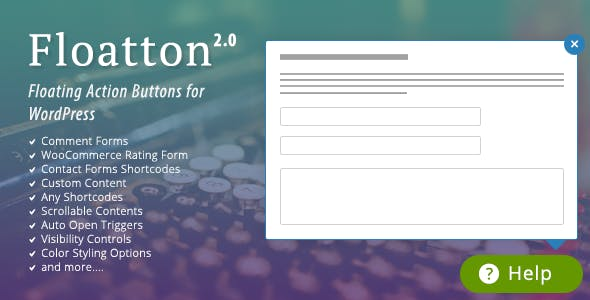 Floatton | WordPress Floating Action Button with Pop-up Contents for Forms or any Custom Contents        Nulled