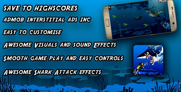 AngryShark : Best Scuba Fishing Game : Android Full BuildBox Game Android Studio Project   IOS - CodeCanyon Item for Sale